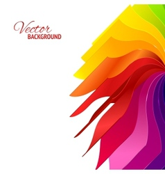 Colorful background with book pages rainbow vector