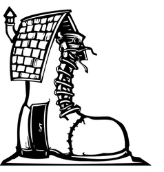 Fairytale Shoe House vector image vector image