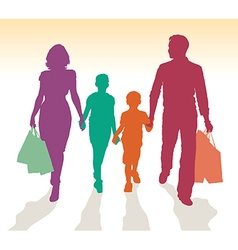 Family shopping vector image vector image