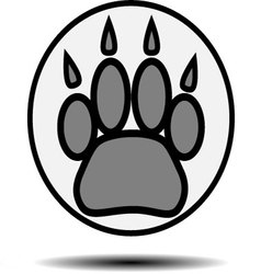 Foot print animal vector image vector image