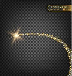 gold sparkles on a transparent background gold vector image vector image