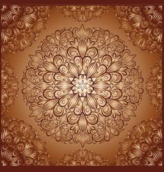 mandala pattern in vintage style vector image vector image