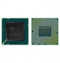 modern processor vector image