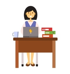 Woman working vector image