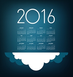 2016 cloud calendar vector