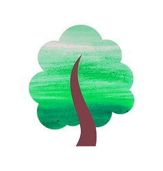 Abstract Watercolor Tree vector image