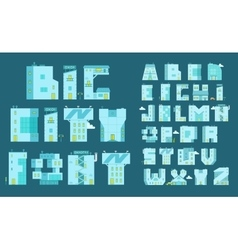 Alphabet set letters-buildings You can write any vector image