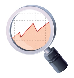 analytics concept - magnifying glass and gra vector image