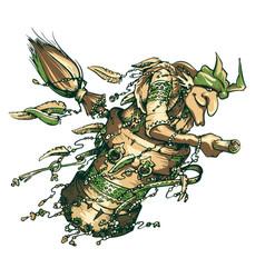 Baba yaga is a character from slavic mythology vector