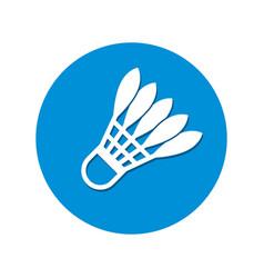badminton shuttlecocks stylized icon vector image