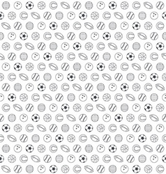 Balls seamless pattern vector image