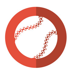 Baseball ball sport game shadow vector