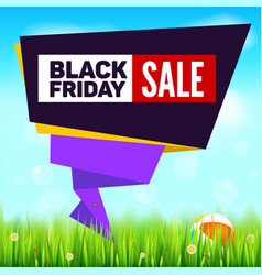black friday summer sale background cut paper art vector image