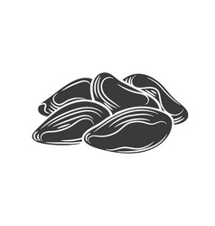 brazil nuts glyph icon vector image