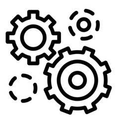 business gear icon outline style vector image