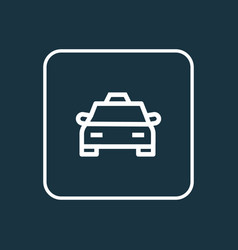 Cab outline symbol premium quality isolated taxi vector