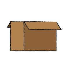 Cardboard box icon open empty container carton vector