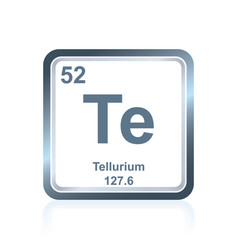 Chemical element tellurium from the periodic table vector