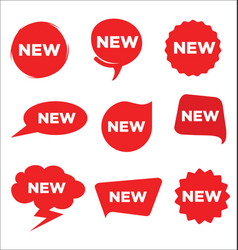 collection red stickers for new arrival shop vector image