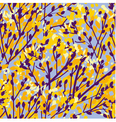 concept abstract autumn tree seamless pattern vector image