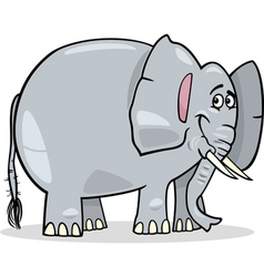 Cute african elephant cartoon vector