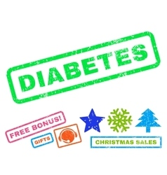 Diabetes Rubber Stamp vector