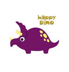 doodle of cute dinosaur vector image