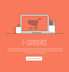 e-commerce pay online and online shopping concept vector image