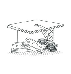 education investment hand draw vector image