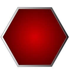 Empty blank stop sign isolated on white vector