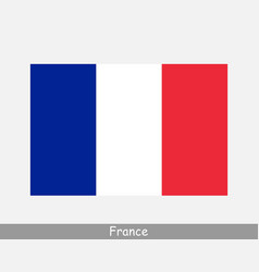 france french national country flag banner icon vector image
