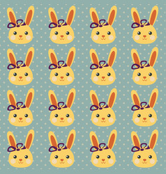 funny bunny pattern vector image