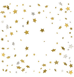 gold flying stars confetti magic christmas frame vector image