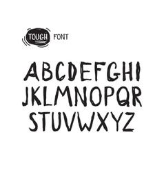 Grunge tough simple font Universal alphabet vector
