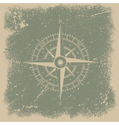 Grunge wind rose vector