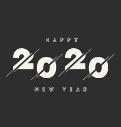 happy new year 2020 abstract card text vector image