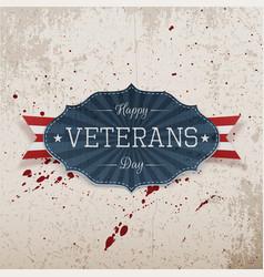 Happy veterans day retro realistic emblem vector