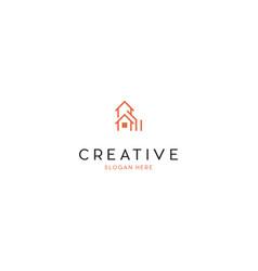 home building creative business logo design vector image