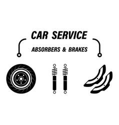 Infographics car repair service automotive shock vector