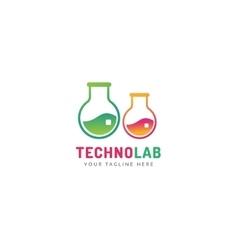 Laboratory equipment logo vector