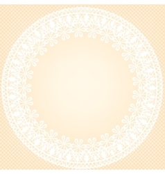 Lace frame on yellow background vector