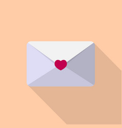love letter icon set of great flat icons with vector image