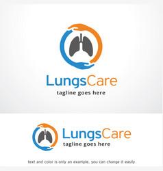 Lungs care logo template design emblem design vector