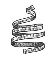 measure tape sketch vector image