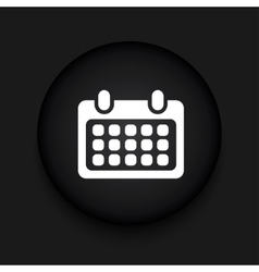 Modern calendar black circle icon vector