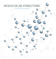 Molecular structure background concept of vector