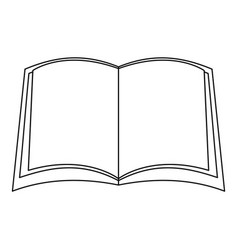 Narative book icon outline style vector