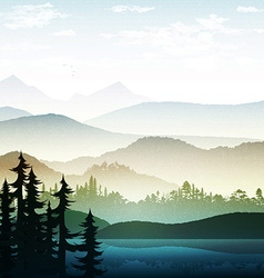 Nature and landscape Summer landscape of nature vector