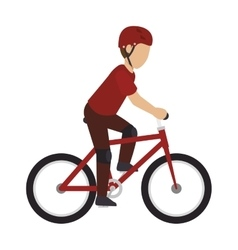 one bike sport vector image