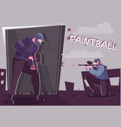 paintball flat poster vector image